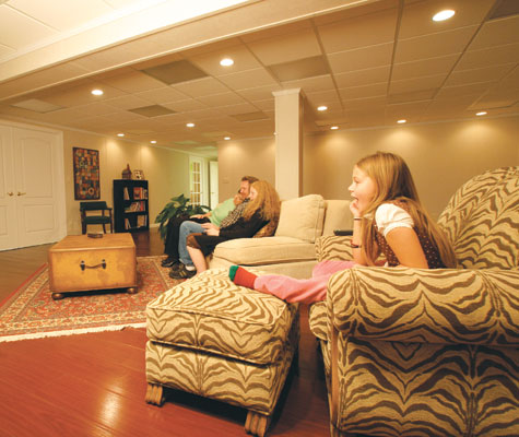how to build a drop ceiling in basement