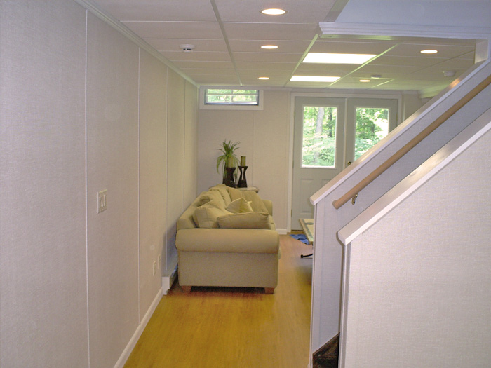 Finished Basement Touches Quebec Doors Windows Crown Molding Dehumidifiers