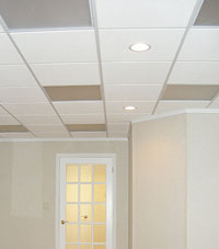 Basement Ceiling Tiles for a project we worked on in Repentigny, Quebec