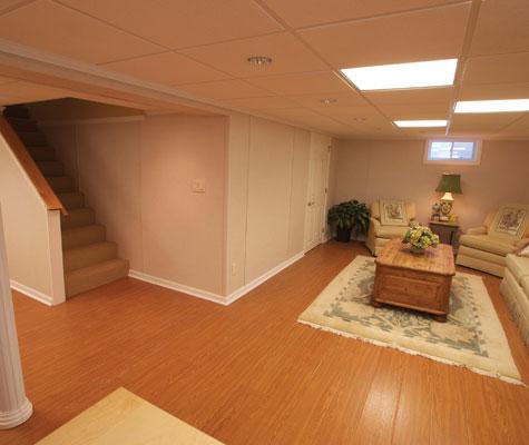Wood Finish Basement Flooring Waterproof Wood Floors - Best flooring to use in basement