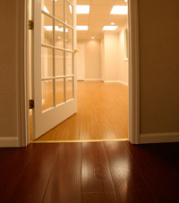 Basement Wood Flooring installed in Trois-Rivieres, Quebec