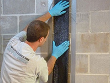 CarbonArmor® et réparation de mur de sous-sol dans Sherbrooke