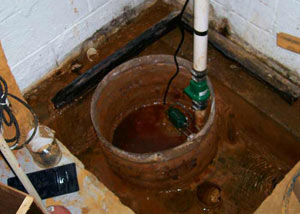 Extreme clogging and rust in a Brossard sump pump system