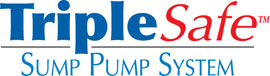 Sump pump system logo for our TripleSafe™, available in areas like Côte Saint-Luc