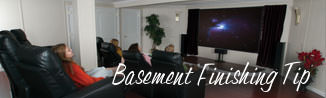 a waterproofed basement that has been finished into a family room in Sainte-francoise-de-lotbiniere