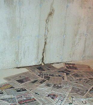 basement floor wall crack repair in province of quebec repair